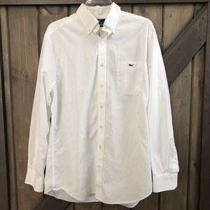 Vineyard Vines White Slim Fit Tucker Shirt Size L